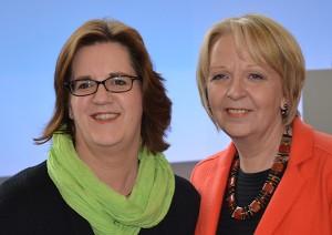 Kerstin Griese und Hannelore Kraft auf einer Veranstaltung der NRW-SPD.