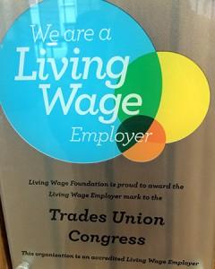 Gewerkschaften zahlen mehr: Living Wage.