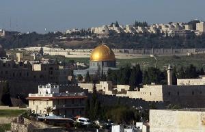 Der Blick vom Willy Brandt Center auf die Altstadt von Jerusalem.