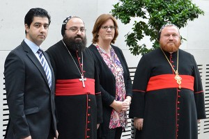 Daniyel Demir, Timotheos Matta Alkhorie, Kerstin Griese, Nicodemus Daoud Sharaf.