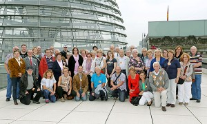 Vor der Reichstagskuppel.