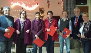 Kerstin Griese ehrte die Jubilare des Ortsvereins für viele Jahre SPD-Mitgliedschaft.