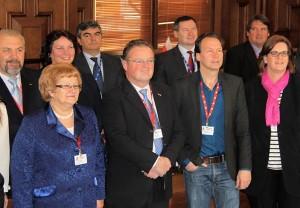Kerstin Griese im Kreis ihrer Ausschussvorsitzkollegen.