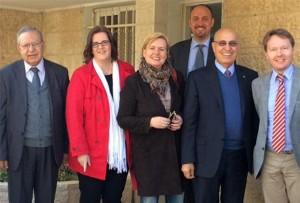 Treffen mit den Fatah-Vertretern Husam Zomlot und Nabil Shaath in Ramallah.