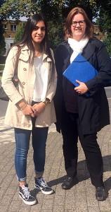 Mahnur Arshad und Kerstin Griese MdB.