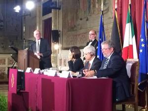 Die Parlamentspräsidenten aus Deutschland, Italien, Frankreich und Luxemburg.