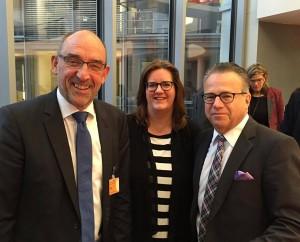 Detlef Scheele, neuer stellvertretender Vorsitzender der Bundesagentur für Arbeit (BA), Kerstin Griese MdB, BA-Chef Frank-Jürgen Weise.