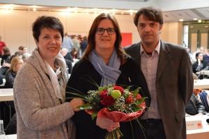 Die wiedergewählte Spitze der Kreis-Mettmann-SPD: Ulrike Haase, Kerstin Griese, Gerno Böll.