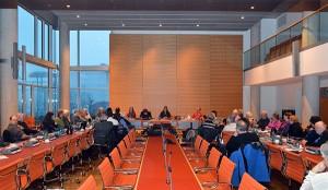 Vorstellungsrunde und Diskussion im Jakob-Kaiser-Haus des Bundestages.