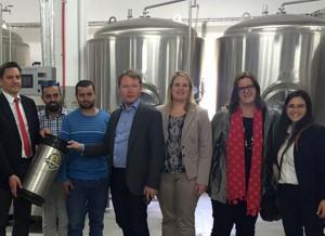 Eine neue Brauerei im palästinensischen Birzeit.