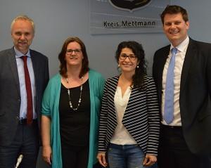 Stv. Landrat Manfred Krick MdL, Kerstin Griese MdB, Arlin Cakal-Rasch, NRW-Staatssekretär Thorsten Klute.