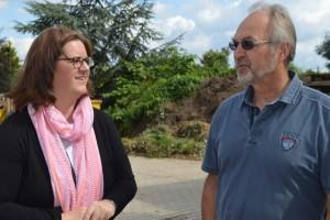 Kerstin Griese und Seniorchef Siegfried Gerber.