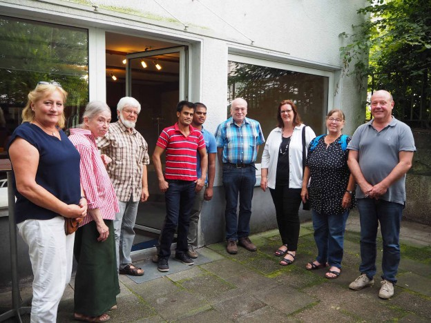Kerstin Griese mit der Flüchtlingsinitiative INGA