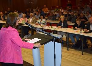 SPD-Mitgliederversammlung in der Aula des Immanuel-Kant-Gymnasiums Heiligenhaus.