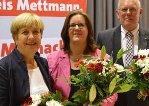 Drei Abgeordnete treten 2017 erneut für die SPD an: Elisabeth Müller-Witt, Kerstin Griese, Volker Münchow.