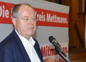 Peer Steinbrück, ausscheidender SPD-Bundestagsabgeordneter aus dem Süden des Kreises Mettmann.