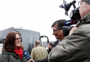 Großes Medieninteresse bei Rheinkalk.