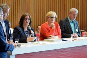 Thomas Lenz, Kerstin Griese, Anette Kramme und Michael Hermund befürworten den sozialen Arbeitsmarkt