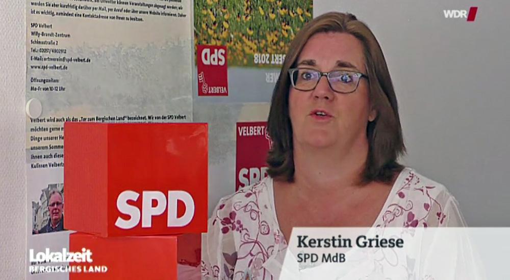 Kerstin Griese im WDR TV