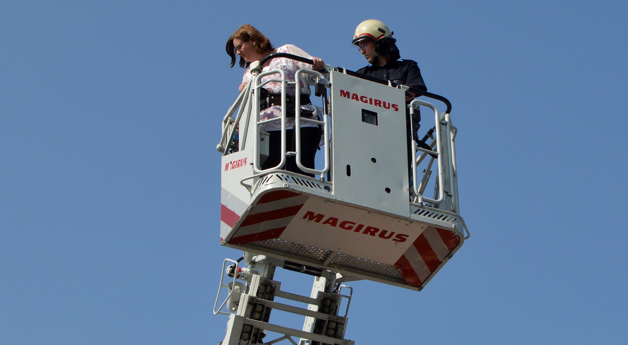 Drehleiter der Feuerwehr
