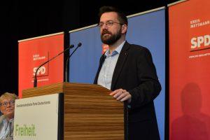 Thomas Kutschaty auf dem Parteitag der SPD im Kreis Mettmann