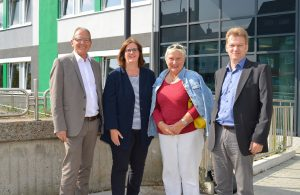Geschäftsführer Franz Heuel, Kerstin Griese MdB, SPD-Ratsfrau Brigitte Djuric, stv. Geschäftsführer Elmar Schildfatt