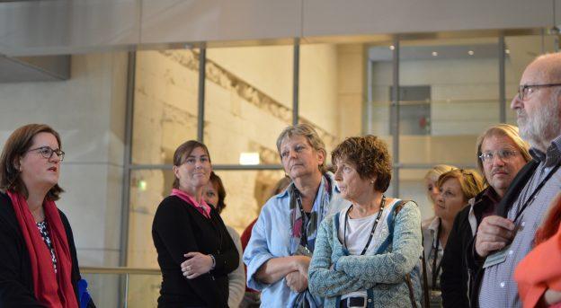 Gespräch im Reichstagsgebäude
