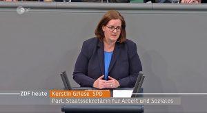 Griese am Rednerpult im Bundestag