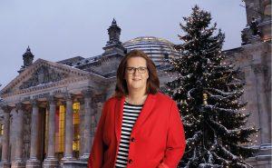Kerstin Griese, Weihnachtsbaum am Reichstag